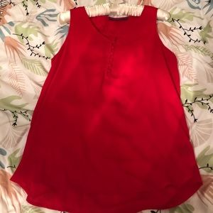 Red blouse with button detail